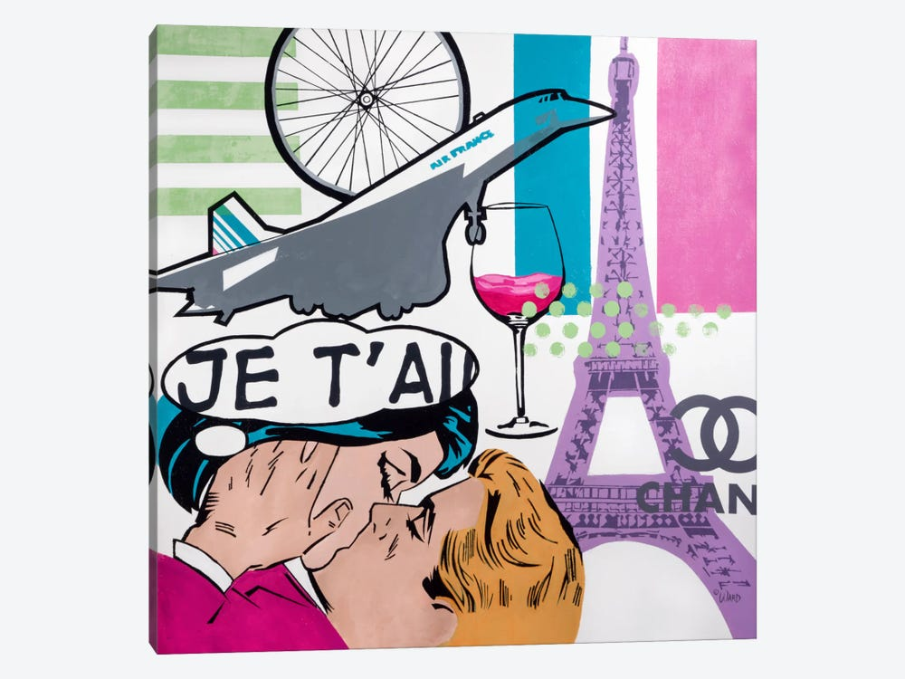 I Love Paris by Francis Ward 1-piece Canvas Print