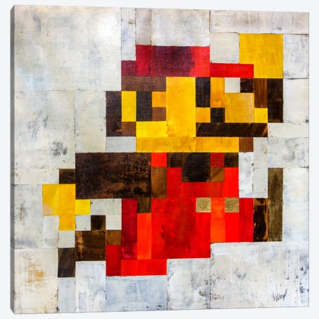 Post Modern Mario Canvas Print #FWD9} by Francis Ward Canvas Wall Art