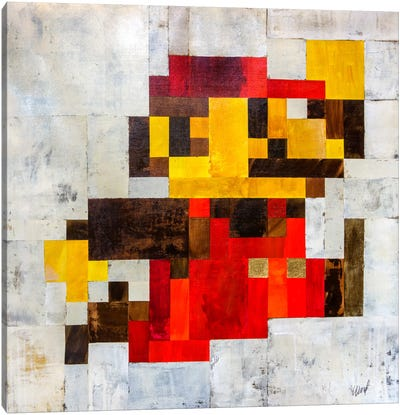 Post Modern Mario Canvas Print #FWD9