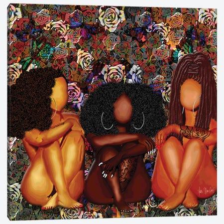 Melanin Baez Canvas Print #FWE21} by Faith with an E Canvas Wall Art