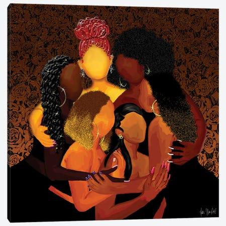 Sister Squad Canvas Print #FWE27} by Faith with an E Art Print