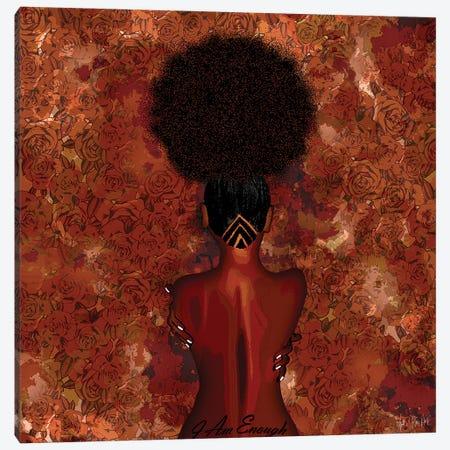 I Am Enough Canvas Print #FWE2} by Faith with an E Art Print