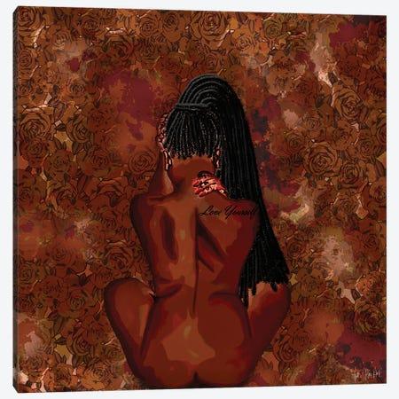 Love Yourself Canvas Print #FWE3} by Faith with an E Canvas Art Print