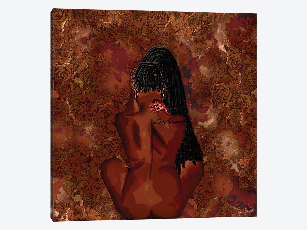 Love Yourself by Faith with an E 1-piece Canvas Print