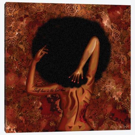 Self Love Canvas Print #FWE5} by Faith with an E Canvas Wall Art
