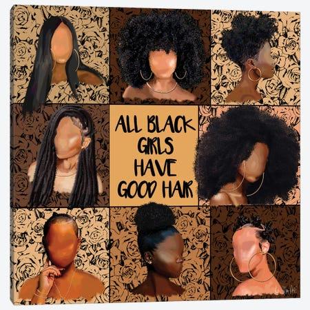 All Black Girls Canvas Print #FWE72} by Faith with an E Canvas Print