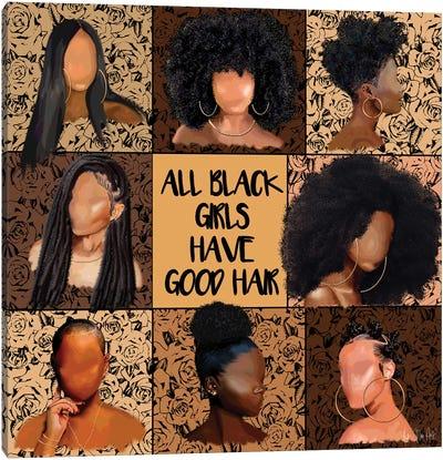 All Black Girls Canvas Art Print