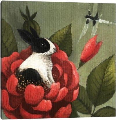 Flower Rabbit Canvas Art Print