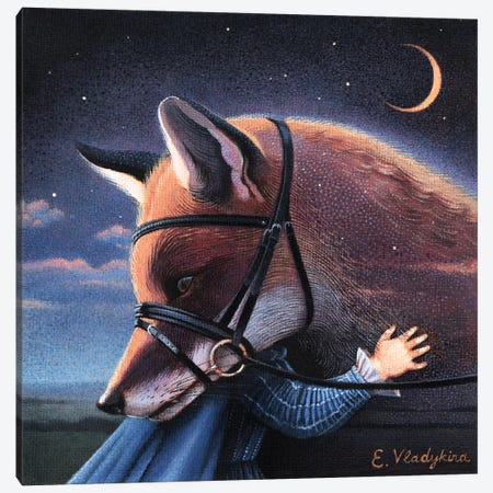 Goodbye Canvas Print #FXP12} by Foxy & Paper Canvas Wall Art