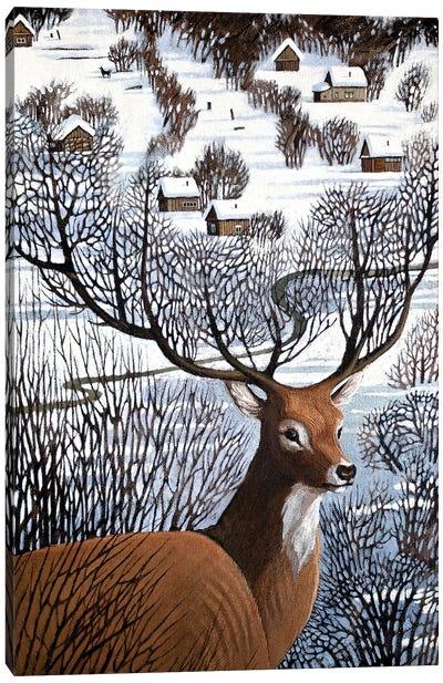 Long Winter in Antler Hills Canvas Art Print