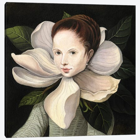 Magnolia Canvas Print #FXP14} by Foxy & Paper Canvas Print