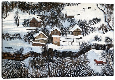 Mr. Fox's Silent Walk Canvas Art Print