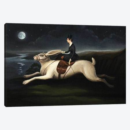 Night Rider Canvas Print #FXP17} by Foxy & Paper Art Print