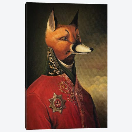 Noble Gentleman in Red Canvas Print #FXP18} by Foxy & Paper Canvas Wall Art