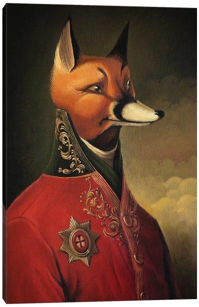 Noble Gentleman in Red Canvas Art Print
