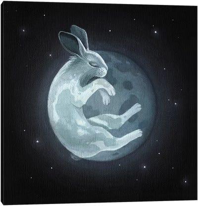 Rabbit Moon Canvas Art Print