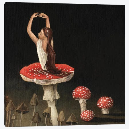 Ballerina Canvas Print #FXP1} by Foxy & Paper Canvas Art