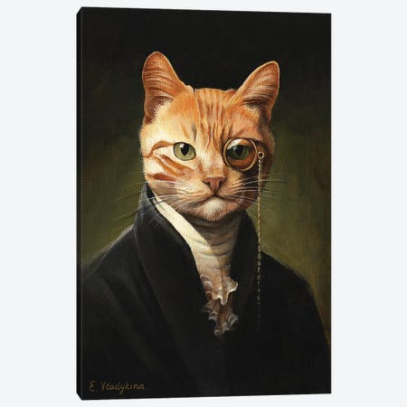 Sir Ginger O'Sullivan Canvas Print #FXP21} by Foxy & Paper Canvas Art Print