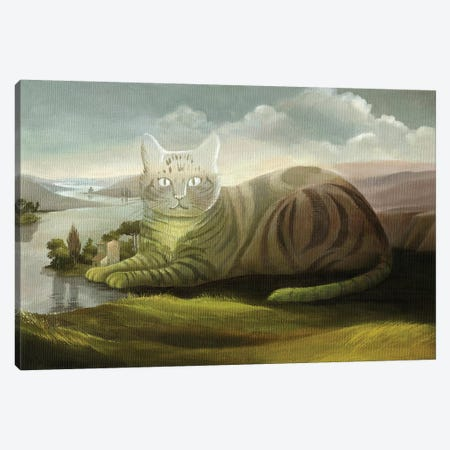 The Cat Canvas Print #FXP22} by Foxy & Paper Canvas Print