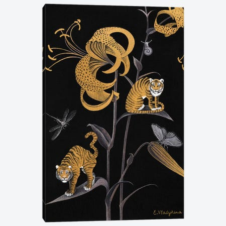 Tiger Lily Canvas Print #FXP26} by Foxy & Paper Canvas Wall Art