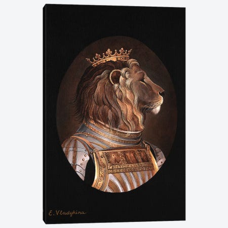 The King Canvas Print #FXP27} by Foxy & Paper Canvas Wall Art