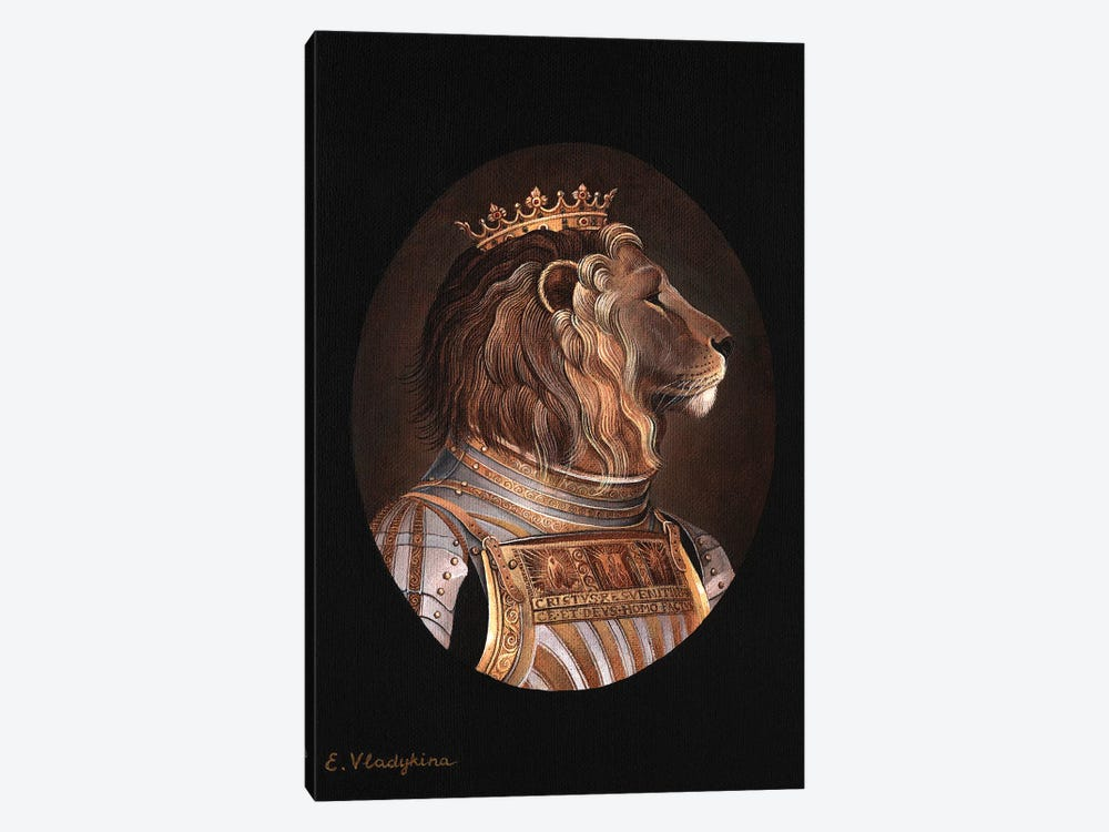 The King by Foxy & Paper 1-piece Canvas Art Print