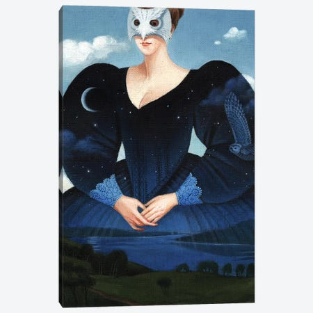 Evening Dress Canvas Print #FXP9} by Foxy & Paper Canvas Artwork