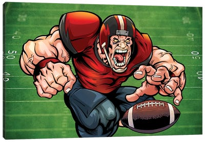 Football Mascot I Canvas Art Print