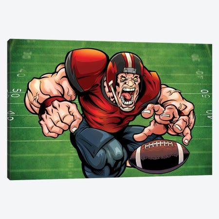 Football Mascot I Canvas Print #FYD12} by Flyland Designs Canvas Art Print