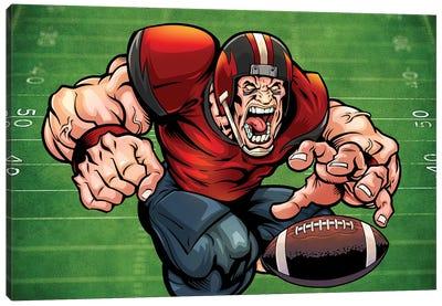 Football Mascot I Canvas Art Print