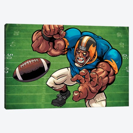 Football Mascot II Canvas Print #FYD13} by Flyland Designs Art Print