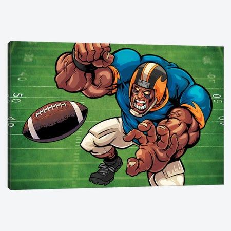 Football Mascot II Canvas Print #FYD13} by Flyland Designs Art Print