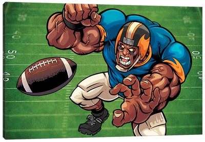 Football Mascot II Canvas Art Print