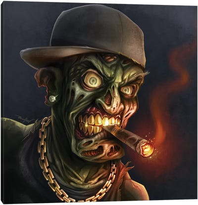 Gangster Hip-Hop Zombie Canvas Art Print