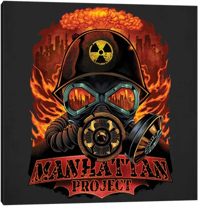 Gas Mask Nuclear Explosion Canvas Art Print