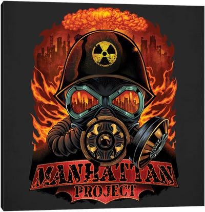 Gas Mask Nuclear Explosion Canvas Art Print