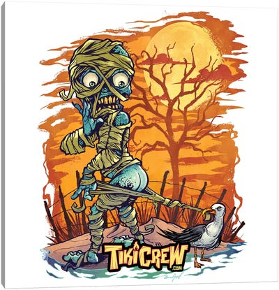 Halloween At The Beach  Canvas Art Print