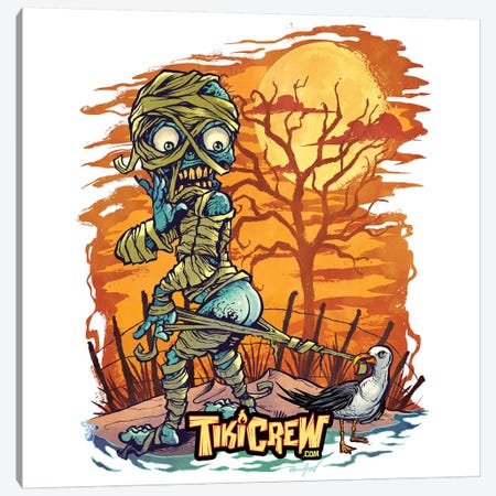 Halloween At The Beach  Canvas Print #FYD17} by Flyland Designs Canvas Wall Art