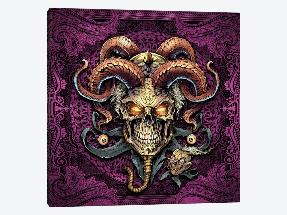Jester Skull With Horns I by Flyland Designs 1-piece Canvas Art