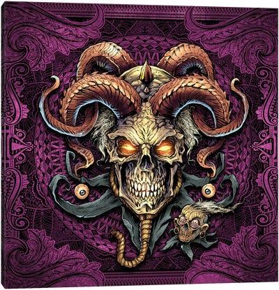 Jester Skull With Horns I Canvas Art Print