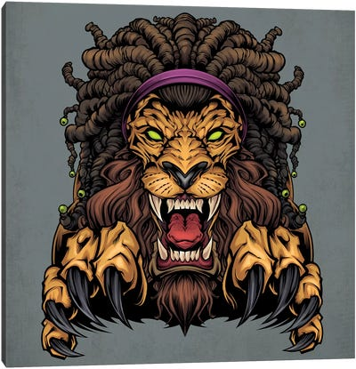 Lion With Dreadlocks Canvas Art Print