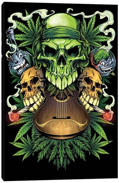 Marijuana Skulls Canvas Art Print