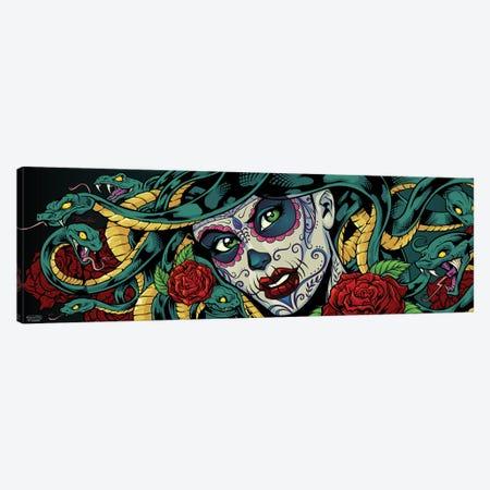 Medusa Sugar-Skull Canvas Print #FYD25} by Flyland Designs Canvas Print