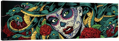 Medusa Sugar-Skull Canvas Art Print