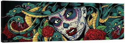Medusa Sugar-Skull Canvas Art Print