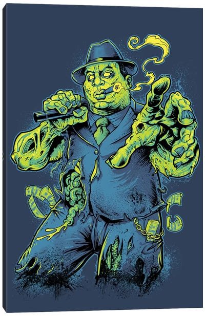 Notorious BIG Zombie Canvas Art Print