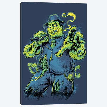 Notorious BIG Zombie Canvas Print #FYD27} by Flyland Designs Canvas Art Print
