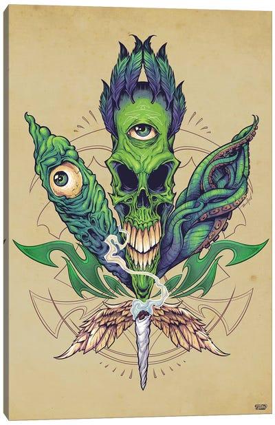 Pot Leaf Skull Canvas Art Print
