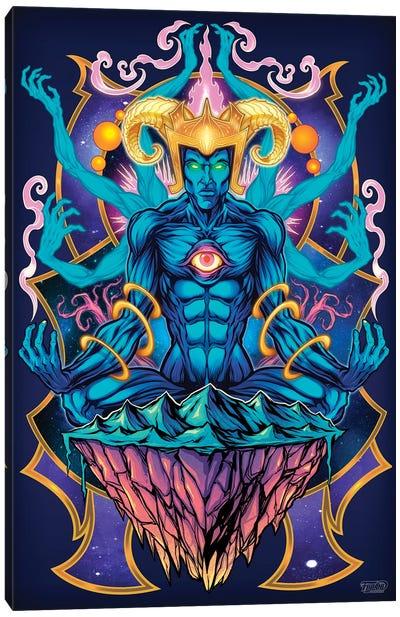 Psychedelic Meditating God Canvas Art Print
