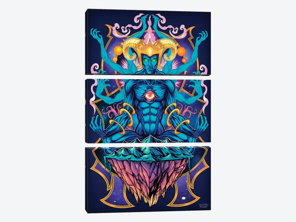 Psychedelic Meditating God by Flyland Designs 3-piece Canvas Art Print